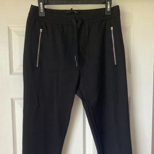 Black rag & bone Ankle Zip Joggers